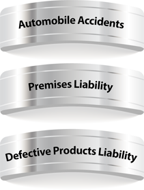 Automobile Accidents, Premises Liability, Defective Products Liability