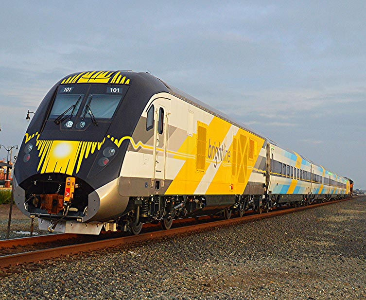 VIDEO: Truck Nearly Hit by Brightline Train