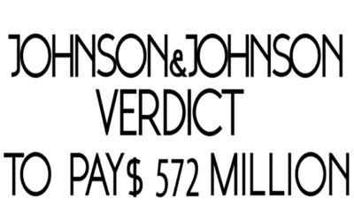 Johnson and Johnson To Pay Millions In Verdict.